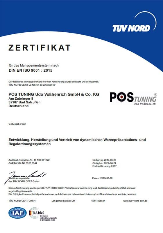 POS TUNING ISO Zertifikat 2020